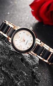 Mulheres Relógio de Moda / Relógio de Pulso Quartz Impermeável Lega Banda Pendente / Casual Preta / Branco marca