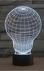 lyspære berøring dimming 3D LED nattlys 7colorful dekorasjon atmosfære lampe nyhet belysning jul lys