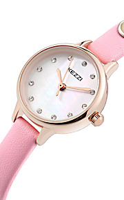 Mulheres Relógio de Moda / Relógio de Pulso Quartz / Couro Legitimo Banda Legal / Casual Preta / Branco / Azul / Rosa / Rose marca
