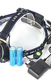 Belysning Pandelamper LED 5000 Lumen 1 Tilstand Cree XM-L T6 18650 Lygtehoved Super letCamping/Vandring/Grotte Udforskning Cykling Jagt