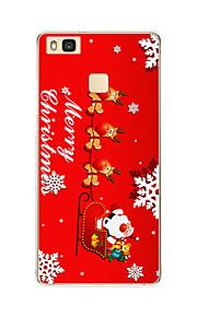 Para Diseños Funda Cubierta Trasera Funda Navidad Suave TPU Huawei Huawei P9 / Huawei P9 Lite / Huawei P8 / Huawei P8 Lite
