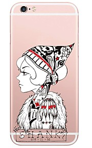 Sexy Lady Pattern TPU Ultra-thin Translucent Soft Back Cover for iPhone 7 Plus 7 6s Plus 6 Plus 6s 6 SE 5s 5