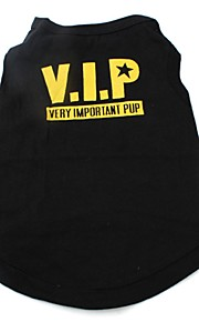 Gatos / Perros Camiseta / Chaleco Negro Ropa para Perro Invierno / Verano / Primavera/Otoño Letra y NúmeroAdorable / Deportes /