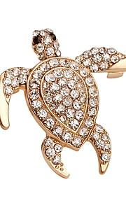 hot salg lysende krystal skildpadde broche for kvinder