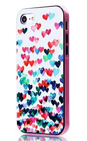 For Etui iPhone 7 / Etui iPhone 7 Plus Støtsikker / Mønster Etui Bakdeksel Etui Hjerte Myk TPU Apple iPhone 7 Plus / iPhone 7