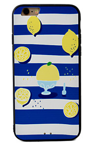 Lemon Pattern Relief High Strength Touch Handle TPU Frame  Acrylic Material Phone Shell For iPhone 7  7Plus 6S 6 Plus