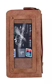 ל ארנק / מחזיק כרטיסים מגן גוף מלא מגן צבע אחיד קשיח דמוי עור Samsung S7 edge / S7
