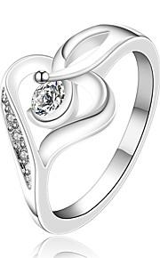 Ringe Halloween / Bryllup / Party / Daglig / Afslappet Smykker Zirkonium / Plastik Dame Ring 1pc,7 / 8 Sølv