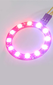 Smart Full-color LED RGB Ring Crab Kingdom WS2812 RGB Lamp Ring 5050 Development Board  12