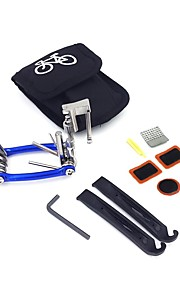 Bicycle Maintenance Set Bag Multifunction 11 in 1 Chain Cutter Repair Kit Tire Patch Lever(No Glue Included)