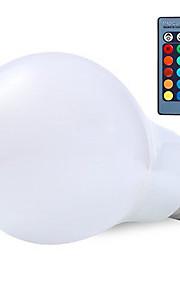 rgb 10w E27 ledet verden lyspære lampe 16 farge changering med 24key fjernkontroll RGB pærer (ac85-265v)