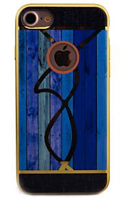 För Plätering / Mönster fodral Skal fodral Trämönstrat Mjukt TPU för Apple iPhone 7 Plus / iPhone 7 / iPhone 6s Plus/6 Plus / iPhone 6s/6