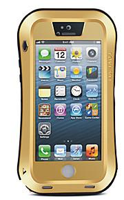 För Vatten / Dirt / Shock Proof fodral Heltäckande fodral Enfärgat Hårt Metall för Apple iPhone SE/5s/5