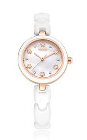 KEZZI Mulheres Relógio de Moda Relógio Casual Quartzo Quartzo Japonês Cerâmica Banda Casual Elegantes Branco