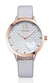 KEZZI Mulheres Relógio de Moda Quartzo Quartzo Japonês PU Banda Heart Shape Casual Preta Branco Azul Branco Preto Azul