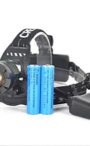 Belysning Pandelamper / Cykellys / sikkerhedslys LED 5000 Lumens 1 Tilstand Cree XM-L T6 18650 Lygtehoved / Super Let