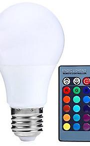 5W e27 ledet globe pærer rgb dimmes 24key fjernstyrt 16 farge changering LED lampe (ac85-265v)