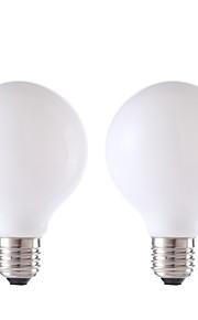 4W E26/E27 LED-glødepærer G80 4 COB 450 lm Varm hvit AC 220-240 V 2 stk.
