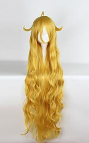 Pelucas de Cosplay Fairy Tail Tordo músico Amarillo Largo Animé Pelucas de Cosplay 120CM CM Fibra resistente al calor Unisex