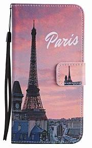 용 지갑 / 카드 홀더 / 스탠드 케이스 풀 바디 케이스 에펠탑 하드 인조 가죽 용 Google Google Pixel / Google Pixel XL