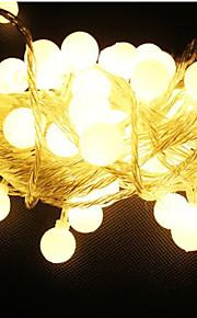 10m 100 ledet 220v vanntett IP65 utendørs flerfarget LED string lys julelys ferie bryllupsfesten dekorasjon