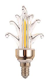 4W E14 Dekorations Lys 2 COB 300-400 lm Varm hvit / Kjølig hvit Dekorativ AC 220-240 V 1 stk.