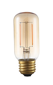 2W E26 LED-glødepærer T 2 COB 160 lm Ravgult Dimbar / Dekorativ AC 110-130 V 1 stk.