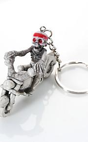 europa e os estados unidos de alto grau de qualidade da corrente chave criativa boutique esqueleto andar de moto para pendurar um anel de