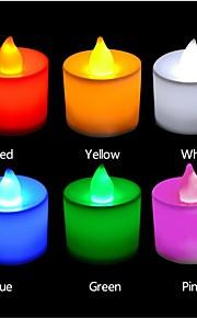 3W LED-lysestakepærer T 1 DIP-LED 300 lm Rød / Blå / Gul / Grønn / Rosa Dekorativ AC 85-265 V 24 stk