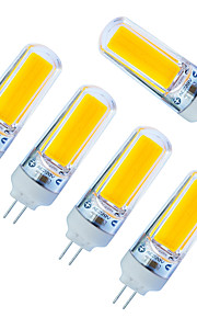 3W LED-lamper med G-sokkel 1 COB 240lm lm Varm hvit / Kjølig hvit Dimbar AC220 V 5 stk.
