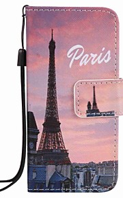 Eiffel Tower Painting PU Phone Case for apple iTouch 5 6