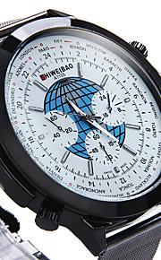 Masculino Relógio Militar Relógio Elegante Relógio de Moda Relógio de Pulso Quartzo Punk Colorido Mostrador Grande Aço Inoxidável Banda