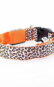 Kediler / Köpekler Yakalar LED Işıklar / Ayarlanabilir/İçeri Çekilebilir / Elektronik/Elektrik / Şarj Edilebilir Mat Siyah Yeşil / Turuncu