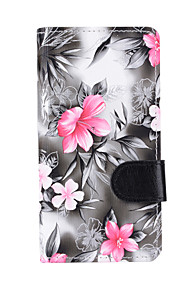 For Samsung J7 (2016) / J5 (2016) / J5 / J3 (2016) / J3 Case Cover Flowers PU Leather Mobile Phone Holster