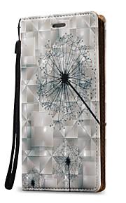 Для Кошелек / Бумажник для карт / Флип Кейс для Чехол Кейс для Одуванчик Твердый Искусственная кожа для Samsung Note 5 / Note 4 / Note 3