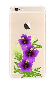 För Transparent / Mönster fodral Skal fodral Blomma Mjukt TPU för AppleiPhone 7 Plus / iPhone 7 / iPhone 6s Plus/6 Plus / iPhone 6s/6 /
