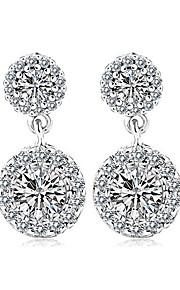 TEEMI AAA Zircon Fine Jewelry Drop Earrings / Ball Earrings Jewelry Women Wedding / Party / Casual Zircon 1 pair Silver