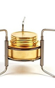 Stainless Steel Stove Gold Single Camping BBQ Hiking Outdoor Picnic