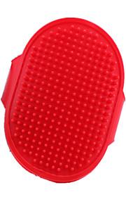 Cane Pulizia Pennelli / Set da bagno Animali domestici Prodotti per toelettatura Massaggio Rosso Silicone