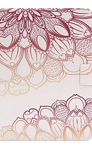 Para con Soporte / Flip Funda Cuerpo Entero Funda Flor Dura Cuero Sintético para SamsungTab E 9.6 / Tab A 9.7 / Tab A 8.0 / Tab A 7.0