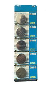 Huifeng 3V CR2450 Li-ion Knoop Batterij 5 pcs