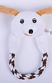 Brinquedo Para Cachorro Brinquedos para Animais Brinquedos Felpudos rangido Branco Algodão