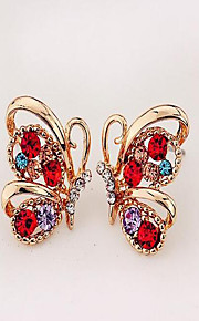 May Polly  Simple explosion butterfly Zircon Earrings are happy couple