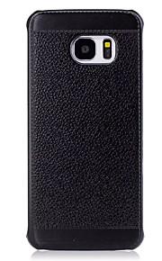 ל עמיד בזעזועים מגן כיסוי אחורי מגן צבע אחיד רך דמוי עור ל Samsung S7 edge / S7 / S6 edge / S6