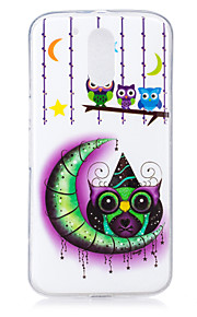 For Motorola MOTO G4 Case Cover Moon Owl Pattern Luminous TPU Material IMD Process Soft Phone Case