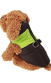 Perros Mono Rojo / Verde / Azul / Rosado Ropa para Perro Invierno / Primavera/Otoño Un Color A Prueba de Agua / Mantiene abrigado