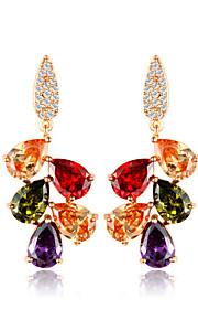TEEMI Colorful AAA Zircon Earring Diamond Stud Earrings Fine Jewelry Women Wedding / Party Zircon 1 pair
