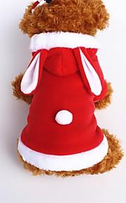 Perros Mono Rojo / Rosado Ropa para Perro Invierno / Primavera/Otoño Un Color Adorable / Mantiene abrigado