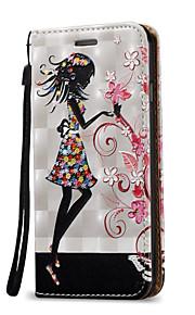 Für Kreditkartenfächer / mit Halterung / Flipbare Hülle Hülle Handyhülle für das ganze Handy Hülle Sexy Lady Hart PU - Leder für Apple