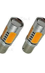 2X Gul Høy Effekt Bau15S 1156Py 7,5 W Hale Brems Signal LED Lyspærer 7507